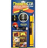 MAGNETACLIP SYSTEM - STRONG MAGNETIC Pencil, and Flashlight Holder for baseball cap, winter hat, helmet, belts and more! Handy wristband included!