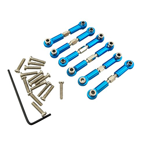 Fytoo 6PCS Remote control car metal upgrade accessories full set metal rod steering rod for Wltoys A949 A959 A969 A979 K929 A959-B A969-B A979-B K929-B Rc car upgrade parts