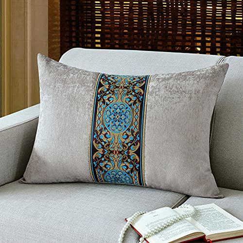 Almohada,Diseño ergonómico para un Mejor Soporte para Dormir en la Cabeza, el Cuello y los Hombros Almohada -Gris_40 * 60 cm