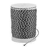 Alomejor Bogenschnur Servierfaden Haltbare Nylonschnur Verwendung für Bogenschießzubehör(Schwatz+Weiß)