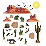 Beistle Wild West Desert Props Wall Decorations, 5 – 52 Inch, 29 Pieces (Pack of 1)