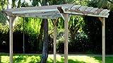 Garden Craft LLC 10 x 12-Feet Redwood Garden Pergola, 10x12-Feet