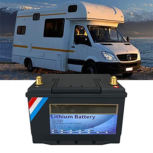NCBH Batería de Ciclo Profundo de 12 V 100 Ah LiFePO4, batería de fosfato de Hierro y Litio de Ciclo Profundo, BMS Incorporado, para Almacenamiento de energía del Sistema Solar RV,12v240ah