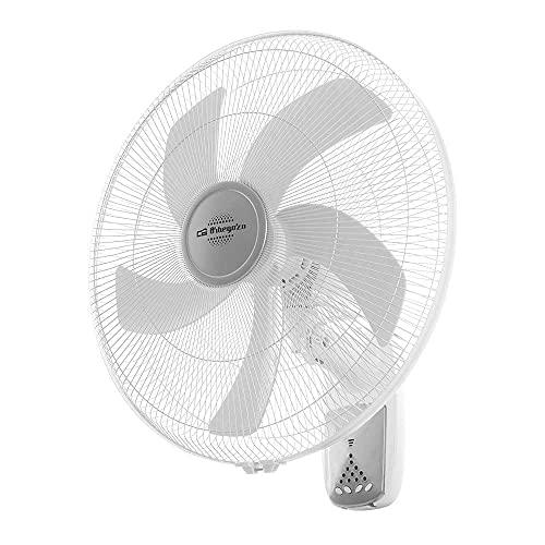 Orbegozo Ventilador WF0250 DE Pared, 5 ASPAS 50CM. 3 VELOCID. 55W. Mando Distancia