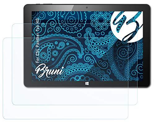 Bruni Schutzfolie kompatibel mit CSL Panther Tab HD Folie, glasklare Bildschirmschutzfolie (2X)