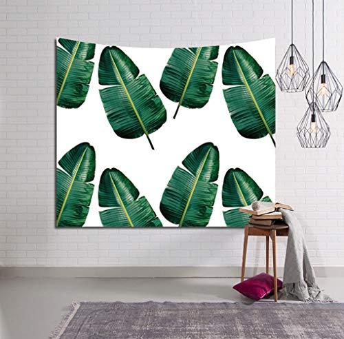 XURANFANG tropische planten Musa Farn bladeren tapijt, wandbehang wandschilderij deken slaapkamer decoratief gordijn doek stofschilderen, 150x130 cm, B