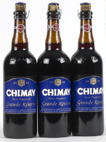 Original Belgisches Bier - CHIMAY Grande Réserve obergäriges braunes Klosterbier 9% vol. 3 x 75 cl.