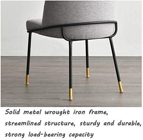 Chaise à métal, Velvet Chaises tapissées Loisirs fauteuils avec Pieds en métal Robuste pour la Cuisine, Salle à Manger, Chambre à Coucher, Salle de séjour,Beige Brown