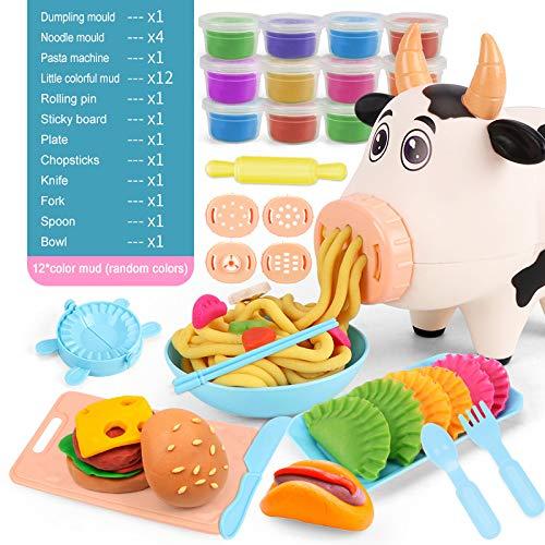 Pony Toy Playdough Werkzeuge Kits Für Kinder, Teig Küche Creations Spielset, EIS Und Pasta Spielzeug Set Für Jungen Und Mädchen, Ist Die Verbindung Nicht Enthalten,A