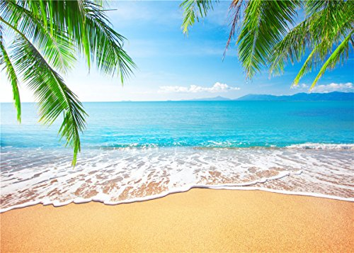 GYA Tropical Beach Background Photo Props for Studio,Wedding,Party Photography Backdrops Vinyl 7x5ft