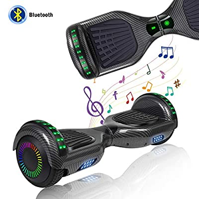 YHR Hoverboard with Wireless Bluetooth Speaker Electric Self Balancing Scooter and LED Light Two-Flashing Wheel with UL2272 Certified for Kids and Adult