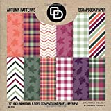 Autumn Patterns Scrapbook Paper (12) 8x8 Double Sided Scrapbooking Pages Paper Pad Book Style: Crafters Delight By Leska Hamaty