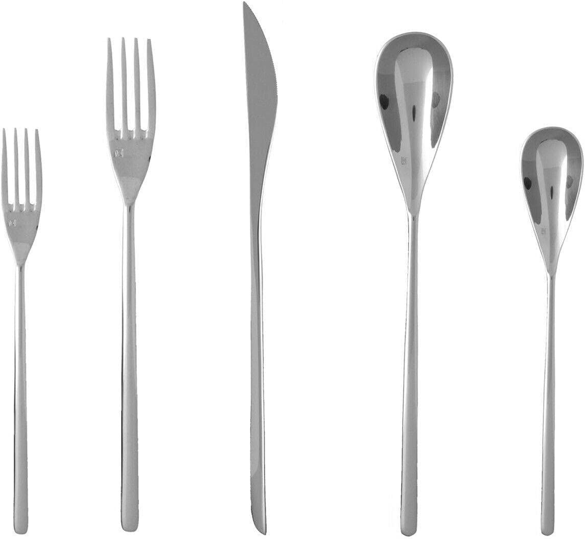 18 10 Stainless Steel Flatware Max 52% OFF 5 Place Setting Piece Kitchen Selling rankings set