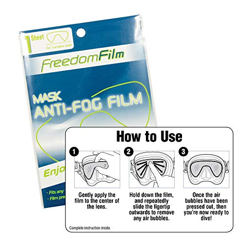 518VZv7mw8L - TUSA Anti-Fog Freedom Film for all Scuba/Snorkeling 2-Window Masks