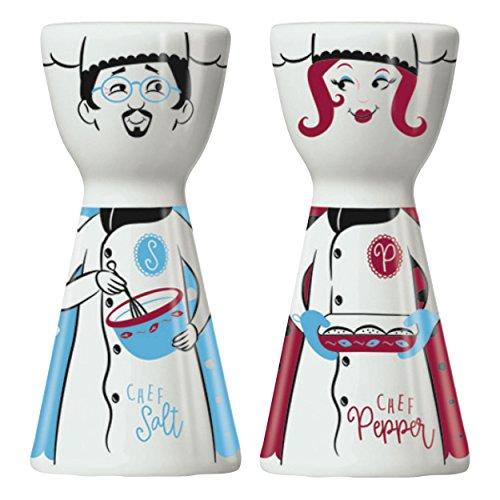 RITZENHOFF Mr. Salt & Mrs. Pepper Salz- und Pfefferstreuer von Shari Warren, aus Porzellan, mit trendigen Motiven