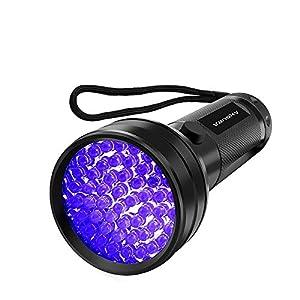 Vansky Flashlight Black Light 51 LED Blacklight Detector for Dog/Cat Urine,Dry Stains,Bed Bug, Matching with Pet Odor Eliminatornator, Eliminator, uv-2