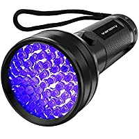 Vansky Flashlight Black Light 51 LED Blacklight Detector