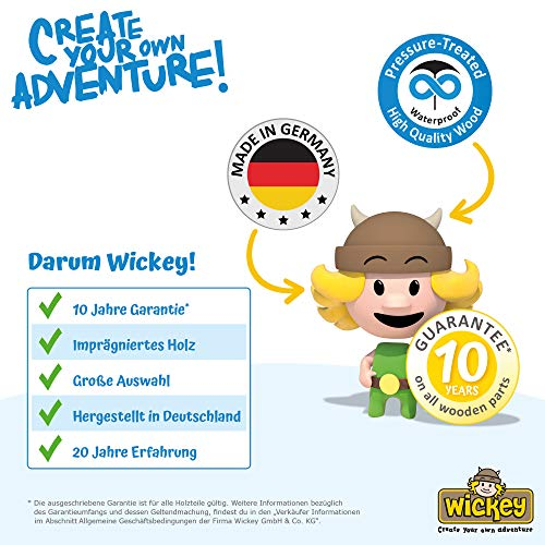 WICKEY Spielturm Klettergerüst Smart Cave mit Schaukel & blauer Rutsche, Baumhaus mit Sandkasten, Kletterleiter & Spiel-Zubehör - 7