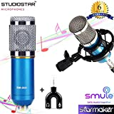 StudioStar® BM-800 Condenser Microphone for Professional Studio with Sock Mount Singing, Youtube, Voiceover