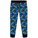 Mens Batman Lounge Pants 31565 Blue Large