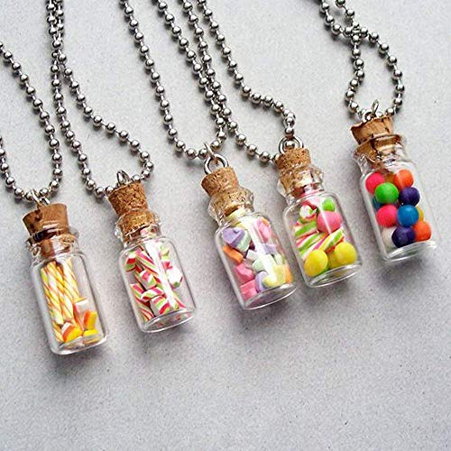 Vial con tapón de corcho pequeña botella de deseos, diminutos transparentes vacíos de cristal de deseos, mini viales de corcho (paquete de 20 unidades)