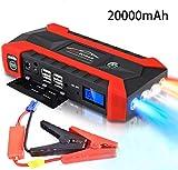 89800mAh Car Battery Jump Starter Pack - Cargadores portátiles de herramientas eléctricas para exteriores Cargador automático de batería para 12V Motocicletas/Barco/RV con abrazaderas, linterna LED