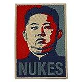 [ ワッペン屋Dongri ] 北の指導者 核爆弾 刺繍 ベルクロワッペン パッチ A0051 (長方形)