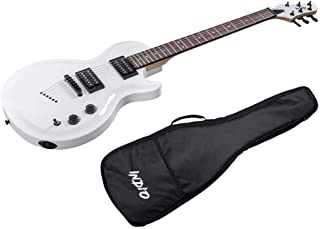 Monoprice Indio 66 Classic Electric Guitar - White, With Gig Bag