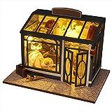 Miniature avec des Meubles de Maison de poupée diy,Boutique rétro créative à la main de style européen rétro victorien, avec valeur de collection, peut être utilisée comme cadeau de Saint Valentin d'a