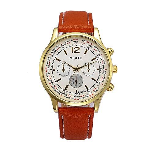 Challeng Herrenuhren Mode Kunstleder Herren Blue Ray Glas Quartz Analog Uhren Business Fashion Armbanduhr Studenten