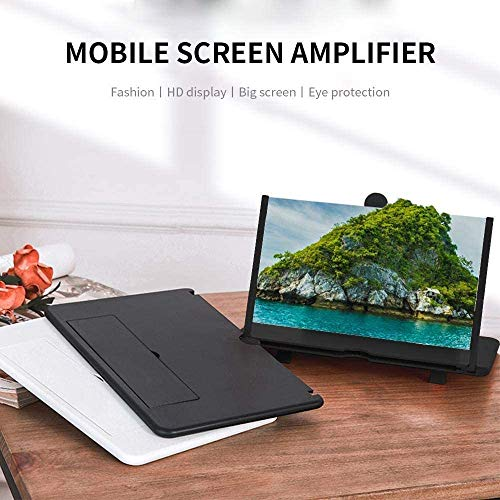 Exxelo (People Choice) Mobile Phone 3D Screen Magnifier 3D Video Screen Amplifier Eyes Protection Enlarged Expander Support for All Smartphones with 1 Year Warranty (Assorted Colour)