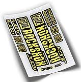 Pegatinas Horquilla ROCKSHOX Judy 2019 WP278 Amarillo Fluor