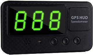 Prom-Near Speedometer Digital Car GPS Speedometer Speed Display KM/h MPH for Car Bike Motorcycle, Head-up Display, Over-Speed Alarm Setting, Black