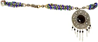 Exotic India Multi-Color Beaded Belt with Dangle - Belly-Chain - Beaded Jewelry