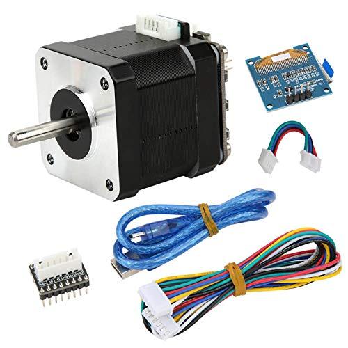 Herramienta eléctrica Motor de engranaje de bucle cerrado de torsión grande Motor paso a paso de CC Micro motor con pantalla para máquina pulidora para placa base SKR