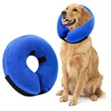 AhlsenL Inflatable Comfy Cone for Dogs Cats Protective Soft Pet Recovery Collar After Surgery Prevent Dogs from Biting & Scratching(L)