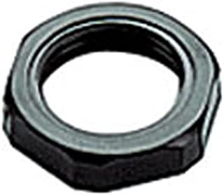 ASI 3005731 Type 1125N Locknut without Collar for Plastic Cable Glands, M25 x 1.5 mm Threads, Black (Pack of 100)