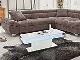 Homemania Tavolino Little Big – basso – con ripiani – per il soggiorno – bianco in legno, 100 x 55 x 42 cm, Pannello in melammina, 100 X 55 X 42cm