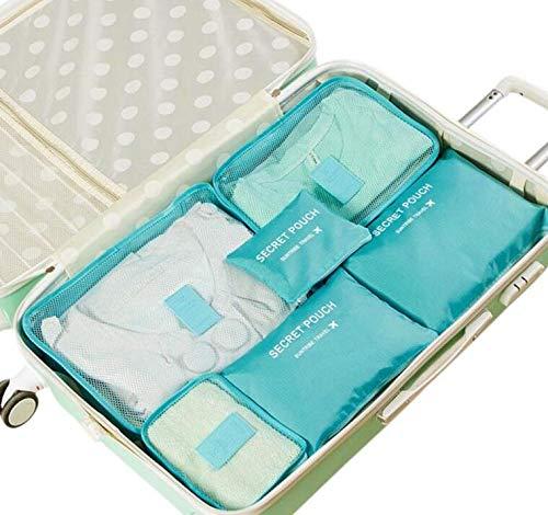 NV 6 pieces storage bag set waterproof clothes underwear storage bag portable suitcase compartment storage bag