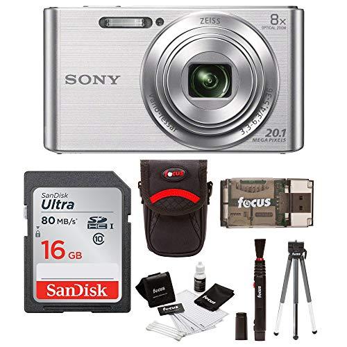 Sony Cyber-Shot W830 Digital Camera (Silver) with...