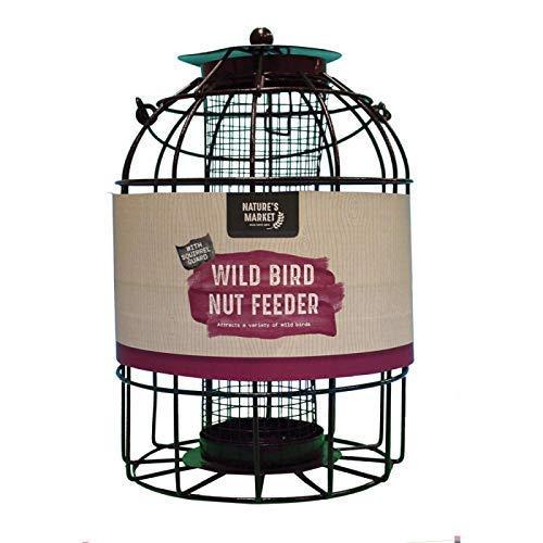 HomeZone Garden Mile Écureuil Étanche Alimentation Cage Graines Noix Fat Boules avec Sûr Garde Extérieur Cage Étanchéité pour Jardin - Mangeoire