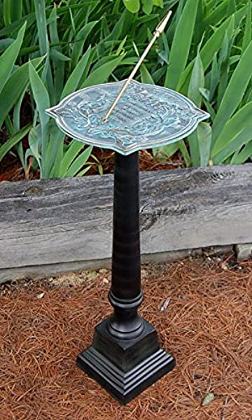 BestNest Rome Happiness Sundial And Stepped Pedestal