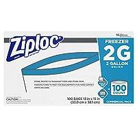 Ziploc冷凍庫バッグ、2ガロン、100 ct