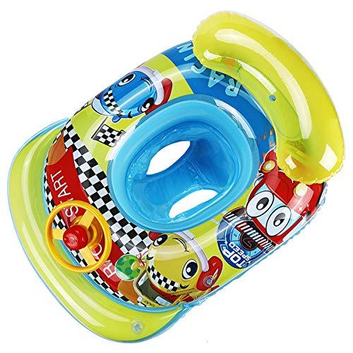 Baby Schwimmring Schwimmreifen Aufblasbarer Swimming Ring Baby Schwimmhilfe Schwimmtrainer Float Ring für 6-36Monate Kleinkind Baby (Auto, One Size)