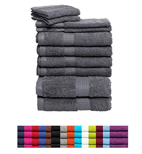 Handtuch Sets Frottier 500g/m2 in vielen Größen und Farben, sowie 10er Sparpack, 100% Baumwolle, 4er Pack Handtücher Hellblau
