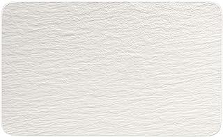 Villeroy & Boch 10-4240-2772 Manufacture Rock Blanc Multifonctions rectangulaire, Assiette en Porcelaine Premium, résiste ...