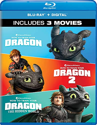 How to Train Your Dragon, 3 movie bundle, Blu-Ray+Digital, Amazon $13.33