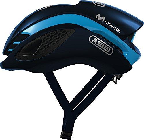 ABUS GameChanger Rennradhelm - Aerodynamischer Fahrradhelm mit optimalen Ventilationseigenschaften für Damen und Herren - 80961 - Movistar Team Edition, Größe L