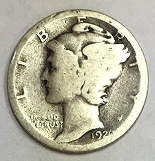 1920 P Mercury Dime 90% Silver 10c Average Circulated