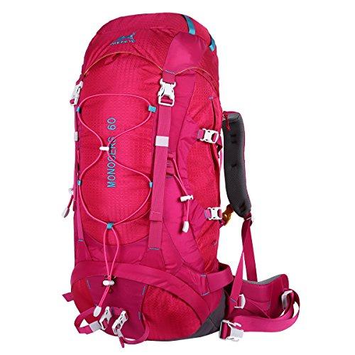 Eshow 60L Backpack Hiking MountainBagDaypackRucksackNylon MensWomensOutdoorSportsHikingTrekkingMountaineeringCampingTravelWater-resistantAnti-scratch